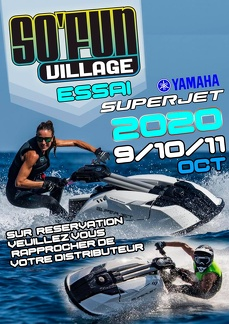 Essais Yamaha SuperJet 4 Temps à So'Fun Village